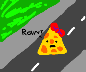 """girl cheese in the middle of the hiway """"rawr"""""""