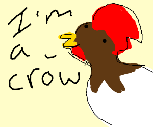 A rooster crowing