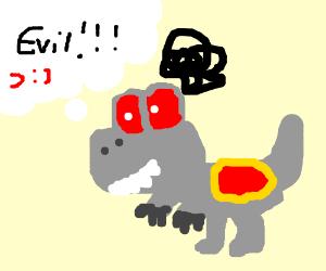 Robot Yoshi has evil intend.