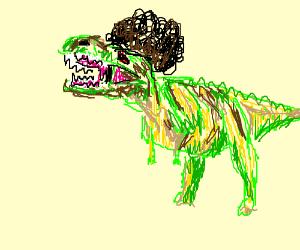 evil afro american t-rex