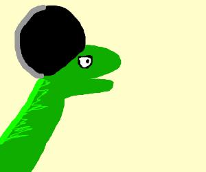 Dino w/ an afro