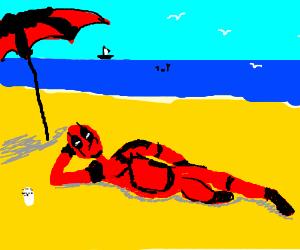 Deadpool at the Beach