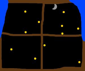 Starlight through the window