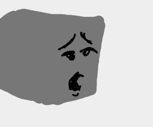 Gray cubeez is sad