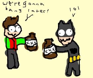 batman and robin are drunk
