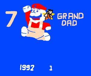 7 Grand Dad Flintstones Mario Bootleg Game Drawception