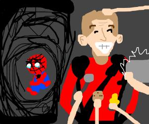 Spider-Man sad nobody thinks Deadpool is him.