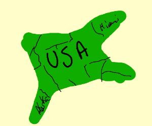 wrong map of USA