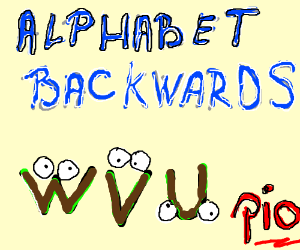 The Alphabet Backwards! ZYX, PIO