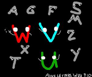 Alive letters WVU PIO