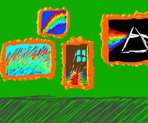 rainbows are art
