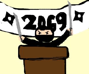 elect ninja for prez 2069