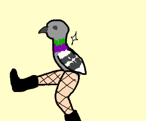 Pigeon with hooker legs