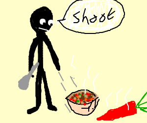 Ah shoot, I dropped my bowl of Chili.