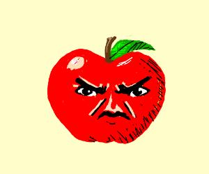 an angry Apple