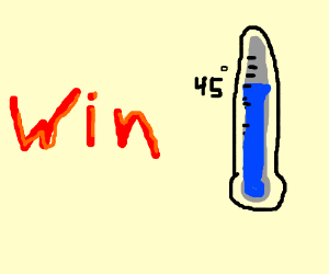 """a design of the word """"WIN"""" at 45 degrees"""