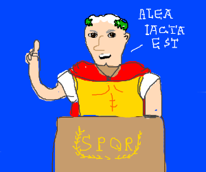 ceasar gives a speech