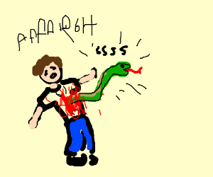 Snake comes out of kid