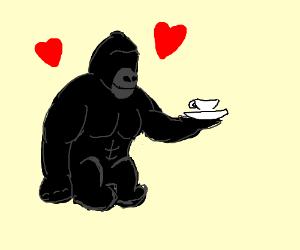British Gorillaz with no eyes loves you