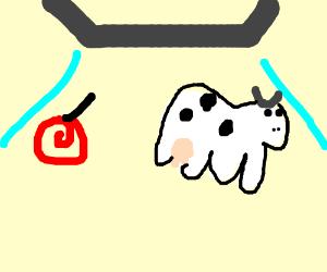 Cow & lollipop taken by UFO !