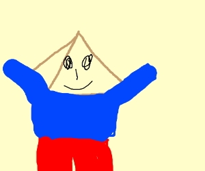 pyramid with clothes