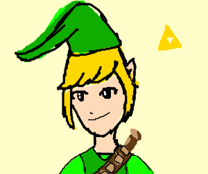 link with a mask on