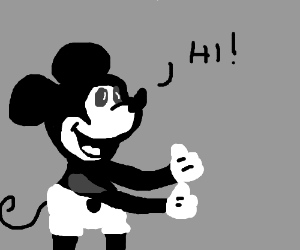 Oldskool Mickey Mouse gives 2 thumbs up