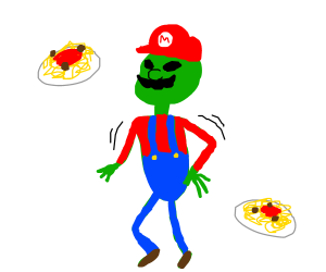 when hte mario come home and make hte spaghet