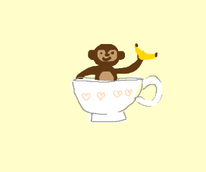 Monkey in a teacup