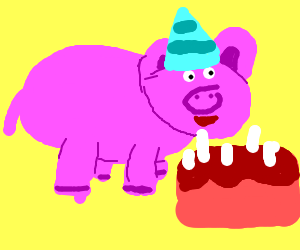 Pig's birthday