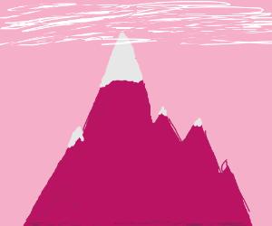 bazooka mountain peak touches the clouds