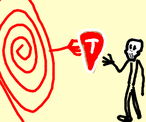 Red spiral gives steak to bonehead