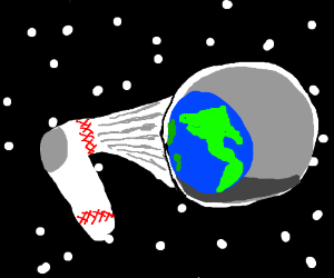 a sock inhales the depth of space