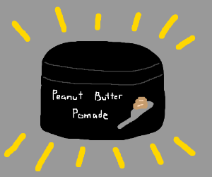 a jar of peanut butter pomade
