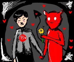 Hitler and Satan in love