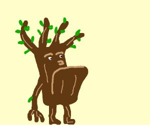 Tree man with an underbite