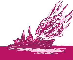 A battleship