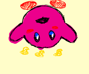 upside down kirby is confused