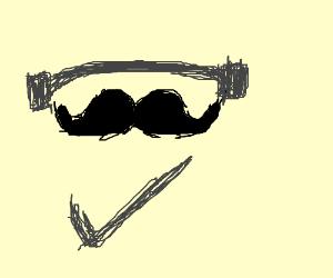 """Mustache can lift listens to""""Just Do It""""speech"""