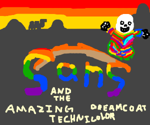 Sans and the technicolor dreamcoat