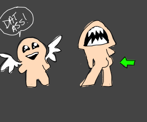 Monster in the Binding of Isaac has great butt