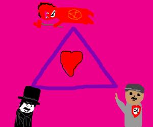 Chaplin, Satan, and Hitler love triangle