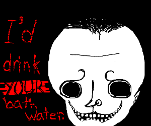 "Skull says ""I'd dirnk YOUR bath water"""