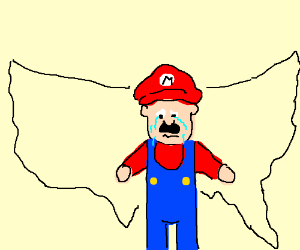Mario cries over the state of America