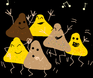 Multiracial Dorito dance party