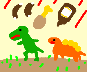 Dinos got extinct because of BBQ !