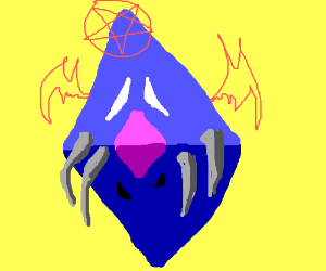 Blue evil lord with 4 tusks