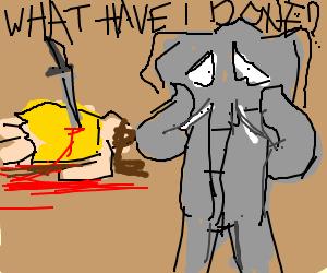 Elephant regrets murdering the girl