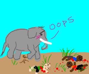 elephant feels guilty for murdering people