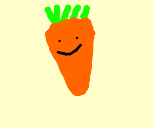 carrot with face